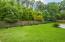 Green space behind backyard.
