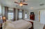 Master bedroom is spacious and features large walk-in closet