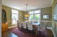 Separate large dining room