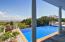 Infinity pool off family room