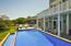 Infinity salt water pool pool