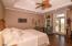Master bedroom on the main living floor