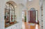 Wide foyer entry with high ceilings
