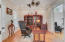 Study / office with 2 sets of privacy doors and a coffered ceiling