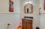 Powder room with wainscoting completes the 1st floor