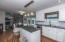 Great kitchen for preparing meals and hosting gatherings.