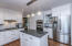 Hardwood floors in kitchen and throughout the home.
