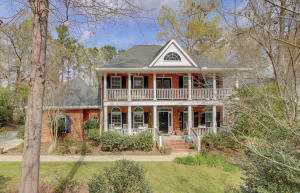 This gorgeous brick home is located in desirable  Walnut Farms in Historic Summerville. From the welcoming front porches to the backyard oasis complete with in ground POOL you will have everything you need in this picturesque home.  You  will immediately notice the many over-sized windows, hardwood flooring, and molding which elevate the space. A formal dining room, office, family room and large kitchen flow nicely in this well-thought out floor plan. The kitchen  opens to the large family room with windows lining the length of the home with views of your yard. The kitchen has all stainless steel appliances, two bar tops,  granite counter tops, storage in the many cabinets and a large eat-in-dining area. The Spacious Master Bedroom is on the first floor and is tucked away for privacy. This sizable master has walk-in closet and a spa-like bathroom with custom tiled Soaking Tub, separate shower and dual sink vanity. The curved staircase brings you to the second floor where there the additional four bedrooms and bathrooms are located. The FROG (is the 5th bedroom) is sizable and a great additional space to enjoy. In the backyard the POOL is perfect for cooling off on those hot summer days. The backyard is fenced, private and there is an additional storage building for your garden equipment. Book your showing today!!!