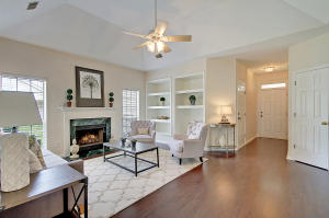 Nice open family room with tray ceiling