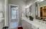 Spa like bathroom with dual vanities...