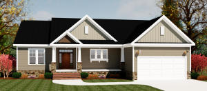 Architectural Rendering on this home under Construction