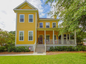 Welcome to this beautiful custom home tucked away on a quiet street in Summerville. The exterior of this home features hardie plank siding and a wrap around porch. As you come into the home, you are greeted with hardwood floors, 10 ft ceilings and crown molding. The kitchen boasts granite countertops, 42'' cabinets, large center island and a walk in pantry. Open concept living room has two doors that lead out onto the screened in porch and a gas fireplace. Downstairs master bedroom with walk in closet. Upstairs, french doors lead you into a large bonus room. Bedrooms upstairs have ensuite bathrooms. Backyard is complete with saltwater pool, patio and privacy fence. Detached 1032 sq foot garage with additional 12 ft door on the back is perfect for boat or trailer storage.