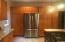 Built-in double door fridge