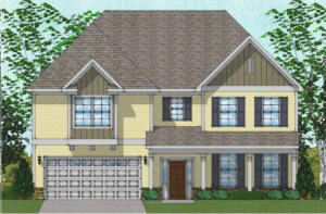 Estimated Completion is December, 2019.  The Yates A plan is a very charming, 4,045 sq ft master up. This home comes with five bedrooms, four full baths, an office, a screeened in porch, a fireplace, and more! The master bedroom is located upsatairs and comes with a very spacious sitting room as well as a separate garden tup and shower. One of the five bedrooms is located downstairs, adjacent to a full bath. This home backs up to a walking trail with no other home directly behind.