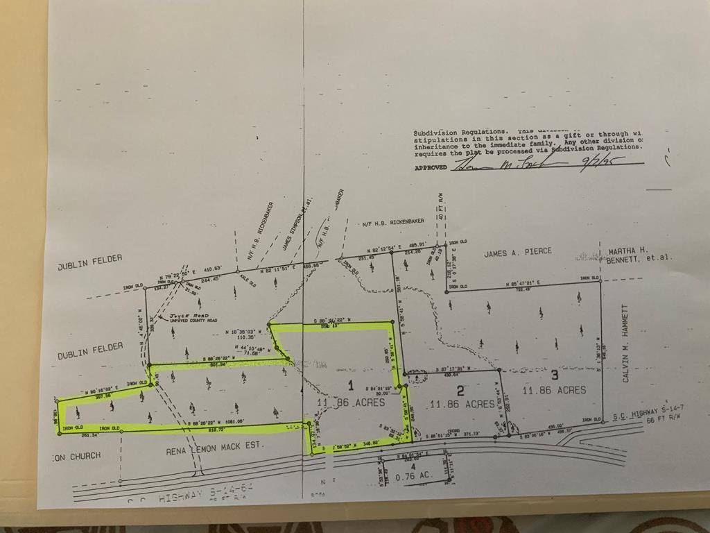 Tract #1 M.w. Rickenbaker Road Summerton, SC 29148