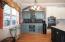 Custom wine/coffee bar with wine fridge to convey