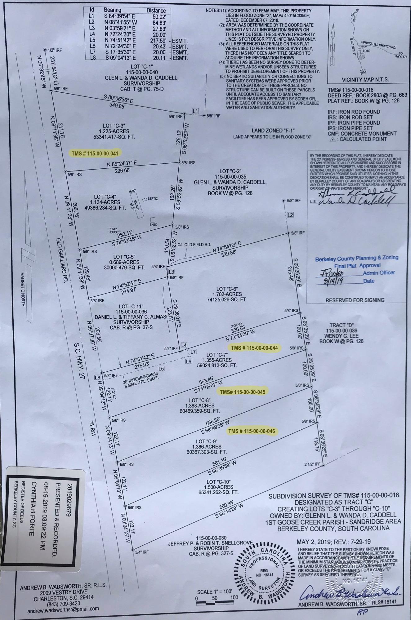 00 Old Gilliard Road Ridgeville, SC 29472