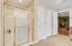 Walk-In Shower, Linen Closet & Private Water Closet
