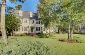 This house is grand from the inside through to the rear yard. Do you appreciate fine details of craftsmanship? Custom upgrades? This home has been immaculately maintained and is a rare find. Enjoy the sought after established community of Walnut Farms, convenient into downtown Summerville for dining, shops, medical, or travel down Dorchester Road for commute into Charleston. The first floor of the home offers a dining room, a family room with wood burning fireplace and coffered ceiling, home office (or flex space), large gourmet kitchen with granite and high-end appliances, breakfast room, sunroom overlooking park like backyard, full bathroom, large laundry room and an oversized 2 car garage. The second floor of the home boasts the master suite which has an en-suite bath that has been completely renovated. The other 3 bedrooms are large in scale and have great sized closet/storage space.  Take note of the more recent updates to include the partial encapsulated crawl space, downstairs HVAC unit,  the upstairs HVAC unit has all new components, water heater, irrigation system, new door hardware throughout the home, mostly new plumbing and light fixtures, refinished kitchen cabinets, new JennAir built in microwave, new dishwasher, new garbage disposals, all new smoke detectors, freshly painted throughout, and thoughtful landscaping to highlight the yard.  Walnut Farms children attend award winning Summerville District 2 schools.  The community is only 15 miles from Charleston International Airport and Boeing, 12 miles to Joint Base Charleston, 5 miles to Summerville Medical Center, 15 miles to Volvo, and 23 miles to Historic Downtown Charleston. Please come see this home, there is so much to offer your family!