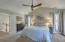 Vaulted ceiling in the master bedroom