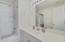 Master bathroom with shower/soaking tub
