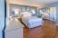 Forward guest bedroom - split floor plan.