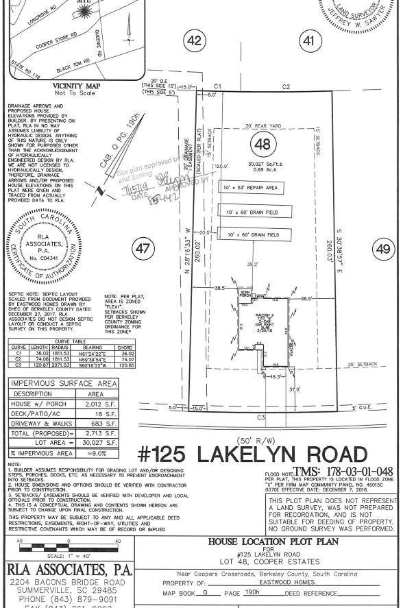 125 Lakelyn Road Moncks Corner, SC 29461