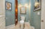 Private water closet in master bath