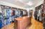 Oversized custom master closet