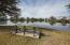 Large pond behind house