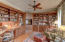 Study with custom cherry cabinetry