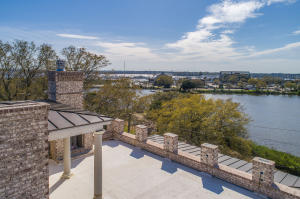 70 Halsey will offer an incredible roof top terrace with fireplace and long distance views across the Ashley River