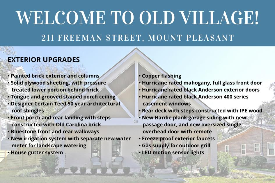 211 Freeman Street Mount Pleasant, Sc 29464