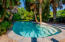 Private saltwater pool and backyard retreat.