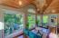 Great room upstairs balcony windows overlooking pool and spa oasis