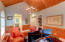 Vaulted ceilings and built ins in study