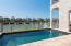 Pebble Tec surface pool with stone decking