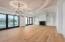 "The white wash cypress radius compliments the unique 8"" European white oak flooring."