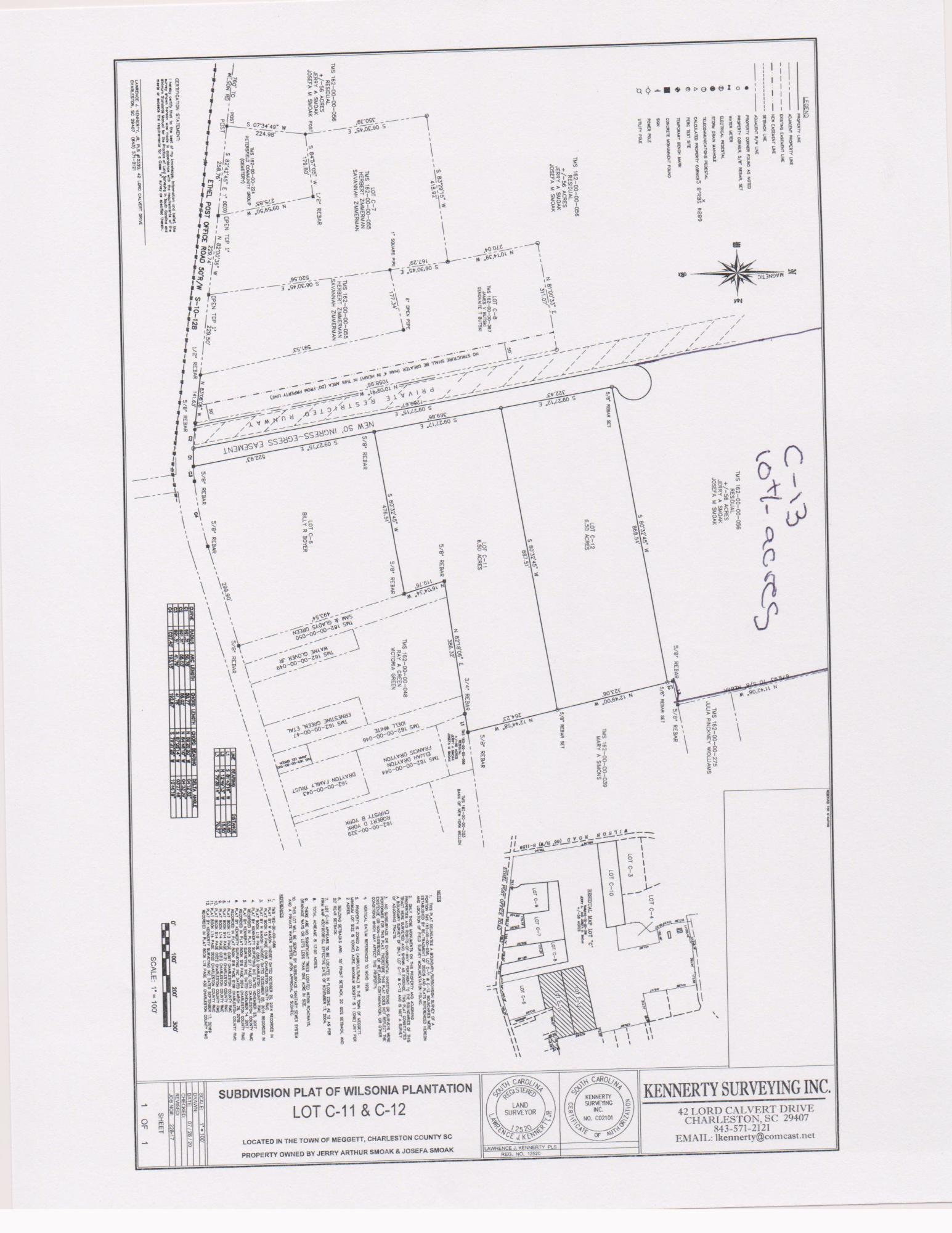 C13 Ethel Post Office Road Meggett, SC 29449