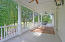 Master Bedroom covered Porch!