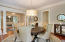 Formal Dining Room has a butlers pantry access to the kitchen!