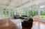 Coffered Ceiling, lots of windows, gleaming wood floors!