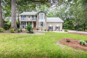 Beautiful Brick home on one full acre lot, off the Ashley River tidal creek. No flood insurance needed! This house has been fully renovated and also comes with a home warranty. This home is upgraded with shiplap walls, a pallet wall, multiple barns doors and upgraded bathrooms. Roof was soft washed last year and has four more years of a transferable warranty through Carolina Scapes. Upstairs AC unit was replace a few years ago. Brand new Back Deck and Dock. This home is a must see