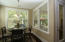 Lovely Dining area with chandelier! Beautiful hardwoods!