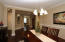 This Dining Room accommodates large dining furniture if needed, or could be used for an office or for another purpose!