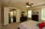 Double Doors give the bedroom a grand entrance and the tall ceilings feel very spacious!