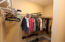 Owner's closet is huge with two separate sections!