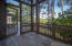 Master bedroom wing with private screened porch