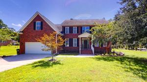 This Charming Custom Built Home boasts Hardwood Floors, beautiful Trim, a fresh Coat of Interior and Exterior Paint, and wonderful picturesque yard.  It is located in Salisbury Acres in the heart of Summerville. The Exterior of the home is Brick on three sides so it requires very little maintenance. The Interior is truly Spacious, Light and Bright, and features 9' Ceilings, 5-Bedrooms and 3-Full Baths. A Guest Bedroom Suite and Full Bath is located on the first floor, and the Master Bedroom Suite is located on the second floor, along with 3 additional  roomy Bedrooms. It  features two sets of Stairs and a Generous Interior that includes a sizable Loft/Flex Space for your Home Office, Fitness Studio, Game Room, or Home Theater. The Kitchen is Party Sized with an Island. A Chefs Delight with Granite Counter tops, a large Pantry, and plenty of Cabinet Space. The kitchen also boasts a Family sized Dining Space that is located within a Beautiful Bay Window overlooking the picturesque  backyard. This dining space is adjacent to an exterior Deck where you can enjoy grilling and entertaining. A large Family Room is also open to the kitchen and includes a Gas Fireplace for those cozy cooler evenings. For those Special Occasions, there is also a marvelous Dining Room accented with crown molding and a trey ceiling.  An elegant 2-Story Foyer and Grand Staircase with hardwood steps and special accents divides the Dining Room and Living Room. The first floor living space features hardwood floors throughout, and a back staircase that leads to the Loft, Grand Master Bedroom Suite, and three additional Bedrooms. No problem for a King size bed in this Master Bedroom Suite accented with crown molding and huge walk-in closet. The spacious Master Bath features double vanities, a relaxing tub, and an over-sized tiled walk-in shower. Also, if you truly love the great outdoors, then this impressive backyard is for you. It is highlighted with a beautiful grand tree, is complete with aluminu