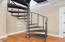 Spiral staircase to bonus game room